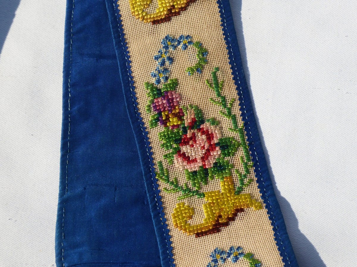 Pair Of Suspenders 1830-1840, Embroidery With Small Points, Nineteenth Male Costume, Fashion-photo-3