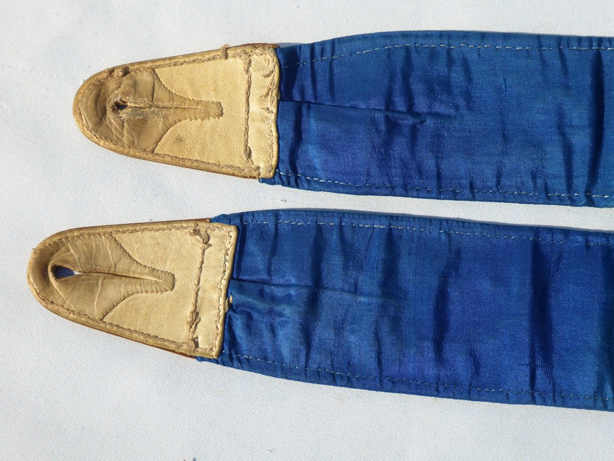Pair Of Suspenders 1830-1840, Embroidery With Small Points, Nineteenth Male Costume, Fashion-photo-4