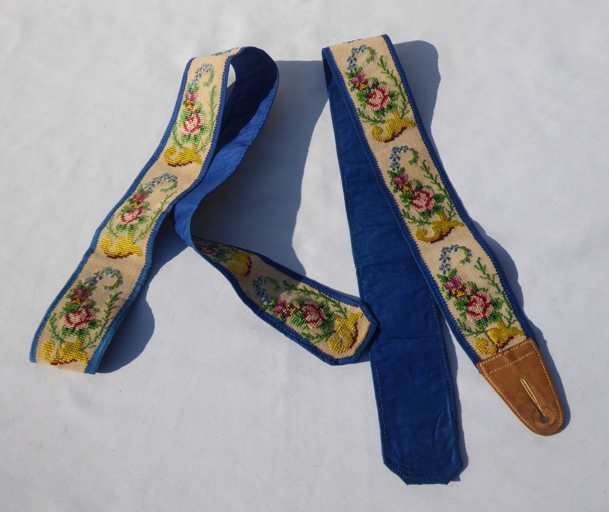 Pair Of Suspenders 1830-1840, Embroidery With Small Points, Nineteenth Male Costume, Fashion