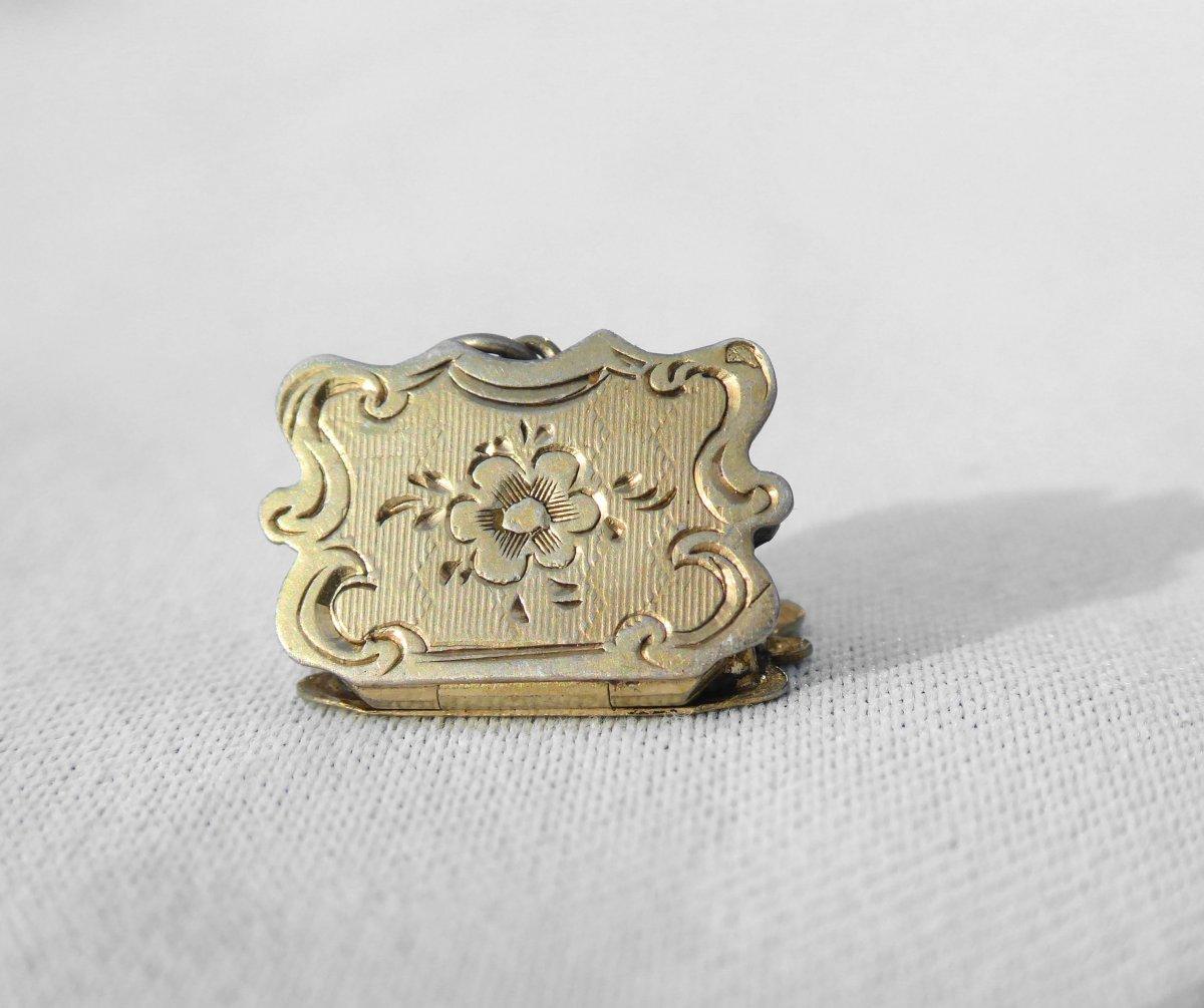 Vinaigrette En Argent Massif Poudrier De Poupée De Mode Napoléon III Trousseau Bru Jumeau XIXe