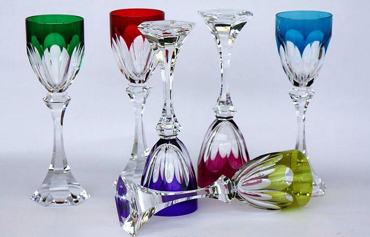 Série de 6 Verres A Vin Du Rhin Cristal Roemer Saint Louis Chambord