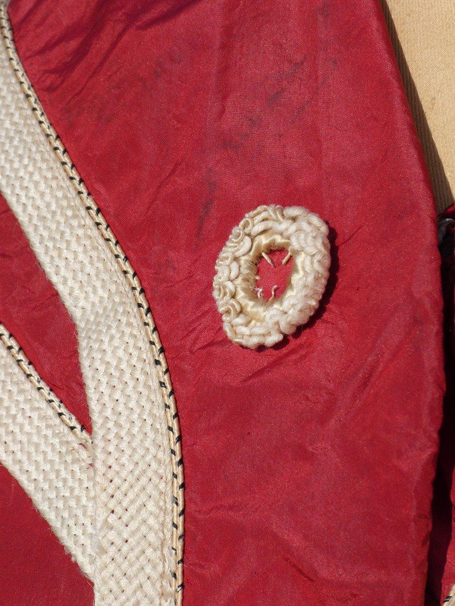 Costume De Bain De Femme , Tenue De Sport Fin XIXe , Soie Rouge , Vêtement Epoque 1900 Mode-photo-2