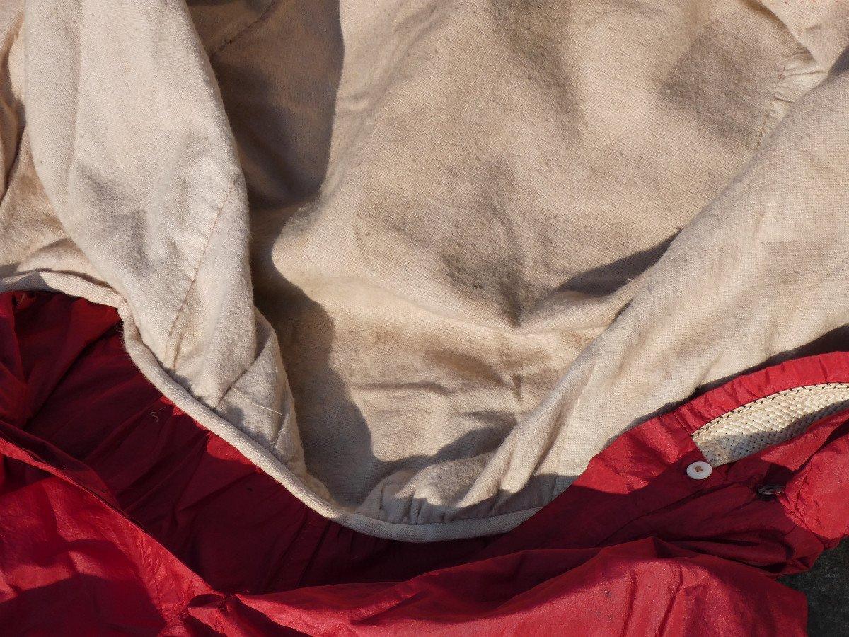 Costume De Bain De Femme , Tenue De Sport Fin XIXe , Soie Rouge , Vêtement Epoque 1900 Mode-photo-4