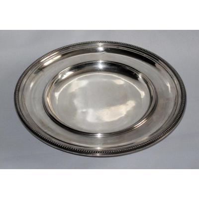 Plate Up / Fruit Bowl Silver Hallmark Minerva Massida.a De Frise Head In Nineteenth Beads