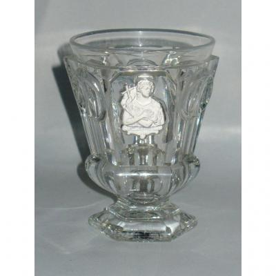 Cristallo-ceramic Crystal Cup, Baccarat Crystal Glass, Saint Jean 1820 Charles X