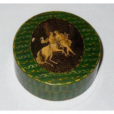 Boite à Pralines / Mouches Epoque XVIIIe Siecle , Scène Mythologique Centaure Déjanire