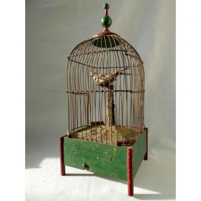 Cage d'Oiseau Siffleur , Boite à Musique XIXe , Jouet Automate Roullet Decamps