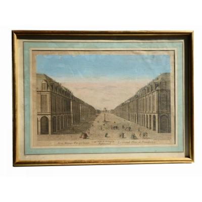 Optical View / Panoramic 1700's Eighteenth The Grand Place Of Saint Petersburg Russia