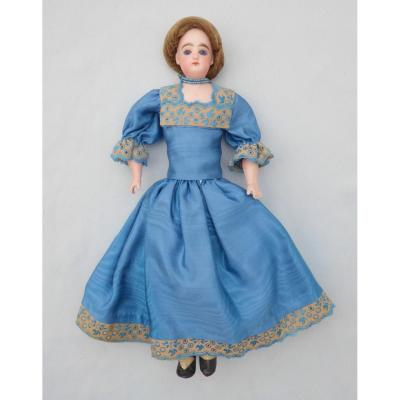 Old Fashion Doll In Biscuit, Francois Gauthier / Parisian Porcelain Nineteenth Toy