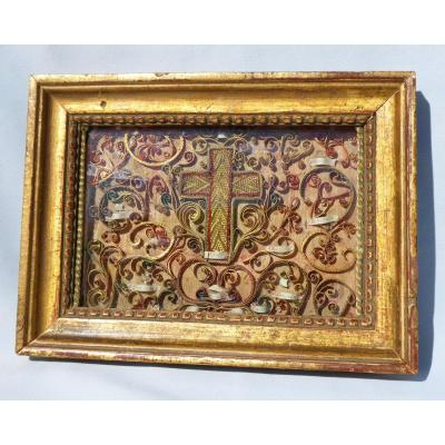 Reliquary Frame, Paperolles Eighteenth Century, Paperolles Relics, Folk Art 1700's
