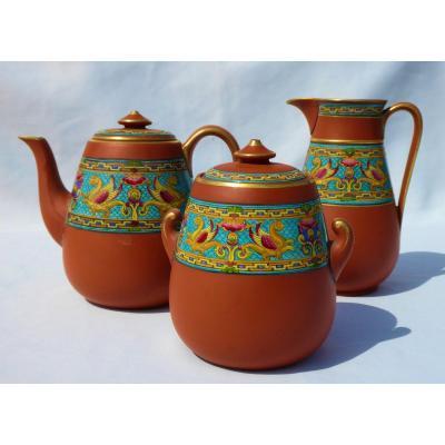 Tea / Coffee Service Glazed Earthenware Watcombe Christopher Dresser Napoleon III Sevres Nineteenth
