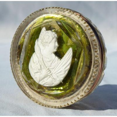 Reliquary Cristallo Cerame Epoque 1820 Sulfide Cristallo-porcelain Baccarat Nineteenth Paperolles