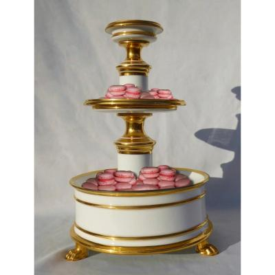 Servant Mute Porcelain Paris Nineteenth Napoleon III, Display Confectioner, Drageoir