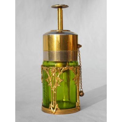 Bottle Vaporizer Gilt Bronze Perfume Art Nouveau Style Mucha Nineteenth 1900 Atomizer