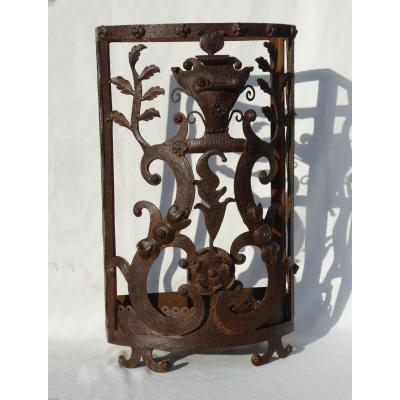 Wrought Iron Umbrella Holder Art Deco Style 1920 Dlg Edgar Brandt Umbrellas Cane Ironwork