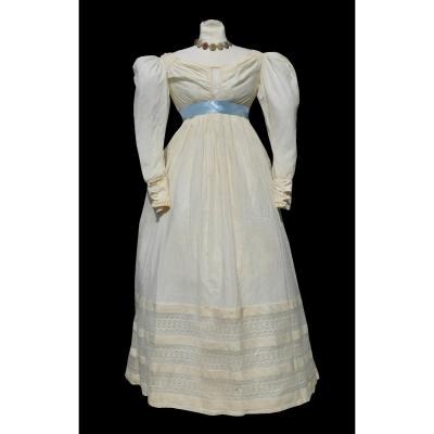 Day Dress 1825 Charles X Sleeve Legs Costume Early Nineteenth Century High Empire Size