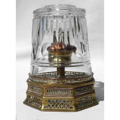 Opium Lamp Late XIX Crystal Size / China Berger Lamp Catalyzed Smoking Pipe