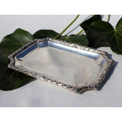 Solid Silver Business Cards Lateau, 19th Empire Style Minerva Head Hallmark Empty Pocket