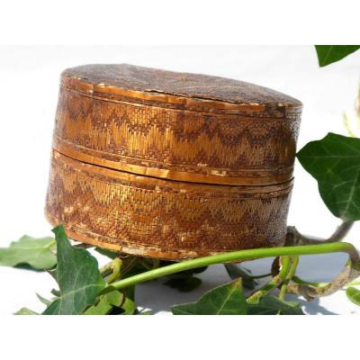 Large Straw & Horsehair Marquetry Box Eighteenth Century, 1700's Louis XV Perfume Powder