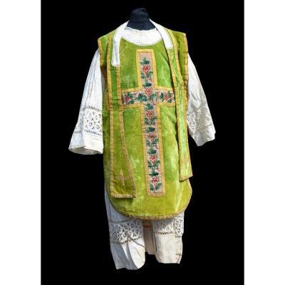 Costume Miniature d'Enfant Jeu De Messe , Chasuble , Surplis , étole &  Broderie Panoplie