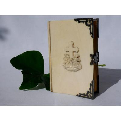 Missal In Silver & Ivory From Dieppe, Epoque XIXth Century, Canivet, Napoleon III, Engravings