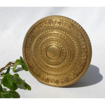 Gilt Bronze Box, Charles X Period, First Empire Style, Jewelry, Nineteenth Box