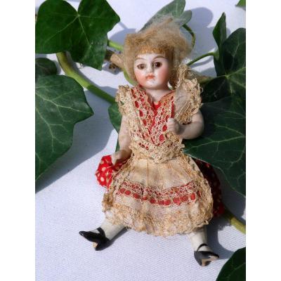 Miniature Mignonnette / Mignonette Biscuit Bisque Toy Nineteenth Porcelain Doll