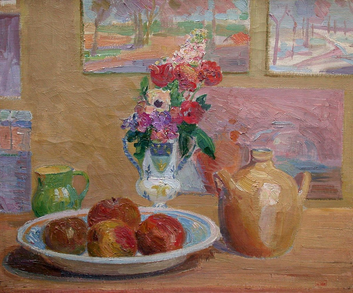 Still Life With Apples - Hippolyte Petitjean (1854-1929)