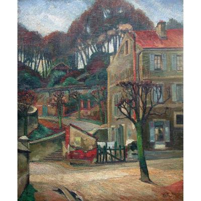 Banlieue Par Emile Colinus (1884-1966)