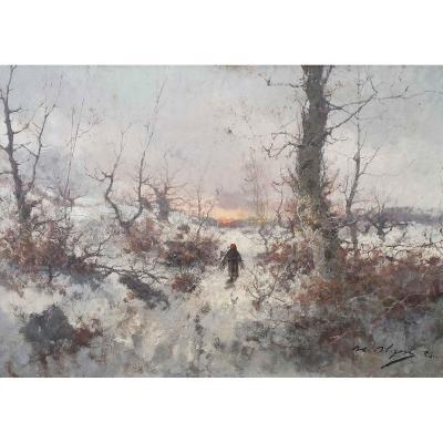 Snow Landscape By Henry Alizon (xix)