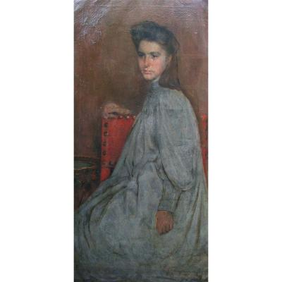 Adolescent By Charles Mertens (1865-1919)
