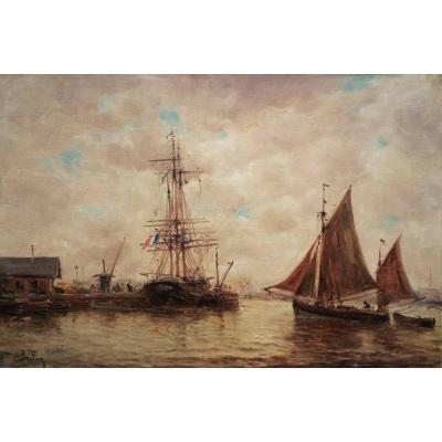 Marine B Par Auguste Berthon (1858-1917)