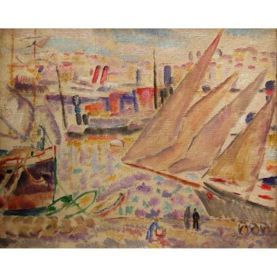 Harbour Of Marseille - A.carrera (1878-1952)