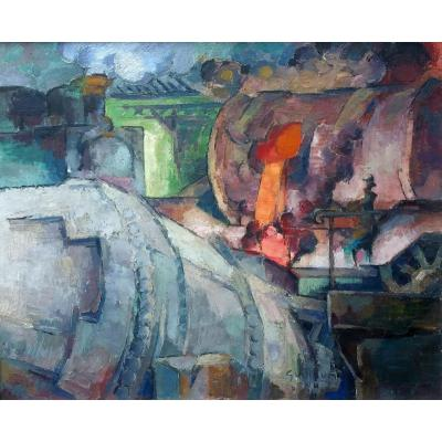 Steelworks By Victor Guillaume (1880-1942)