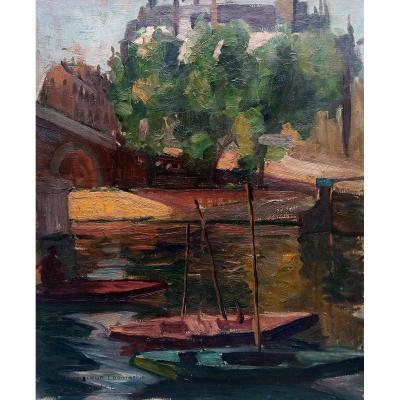 The Seine In Paris - R.m.limouse (1894-1990)