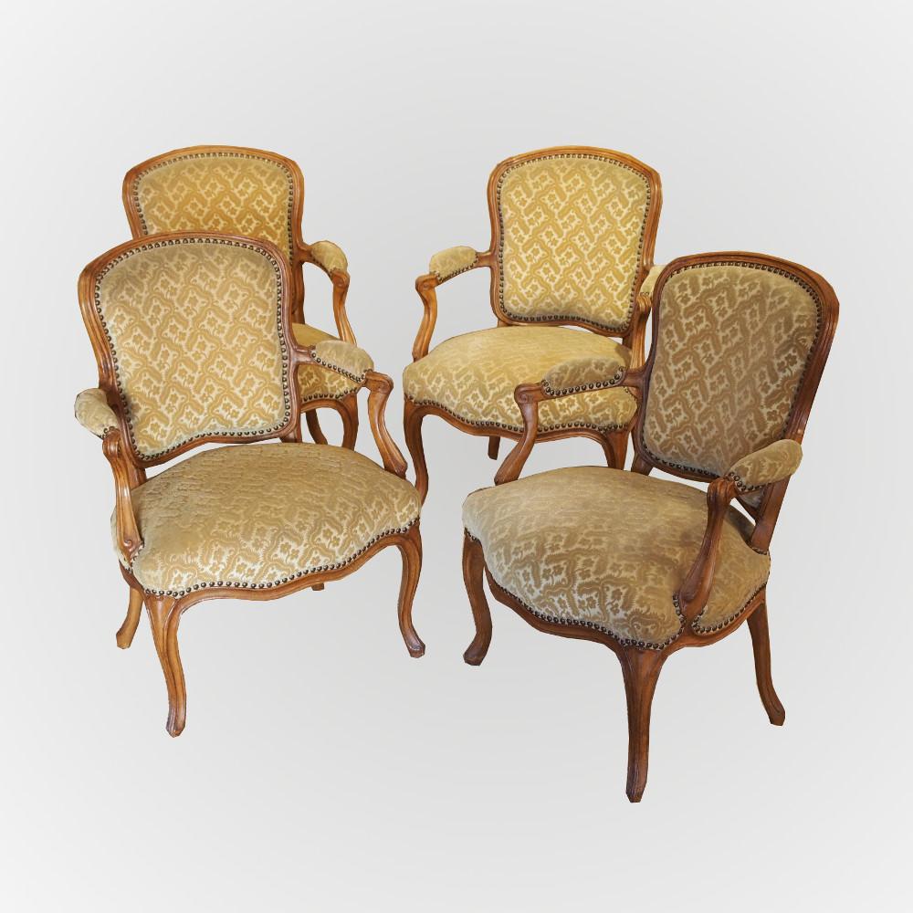 Suite de 4 fauteuils estampillés M.GOURDIN