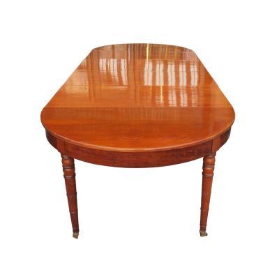 Table à bandeau à six pieds en forme de bambous d'époque Restauration