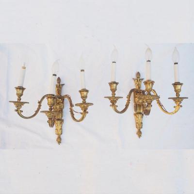 Paire d'appliques de style Louis XVI