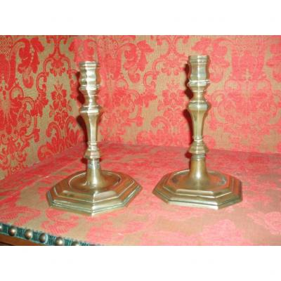 Pair Of Candlesticks, XVIIth.