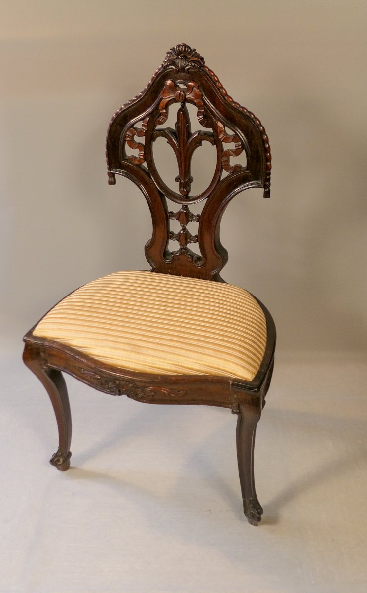 6 chaises en palissandre massif-photo-2