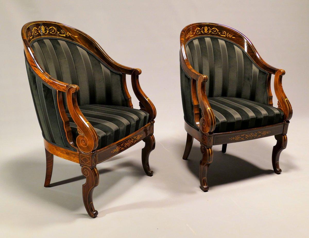 Pair Of Gondola Armchairs