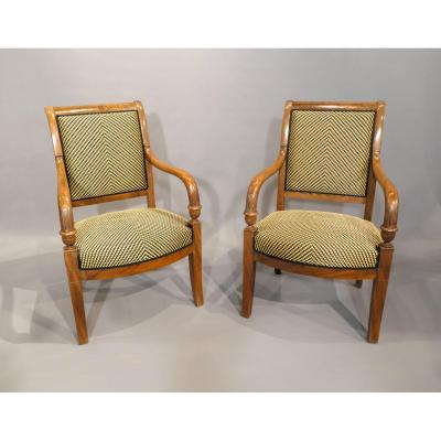 2 Empire Armchairs