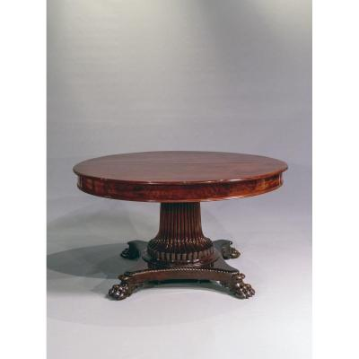Pedestal Table With 4 Extensions