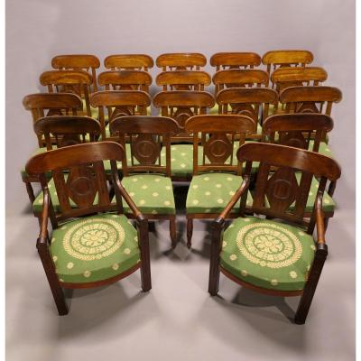 19 Chairs And 2 Armchairs