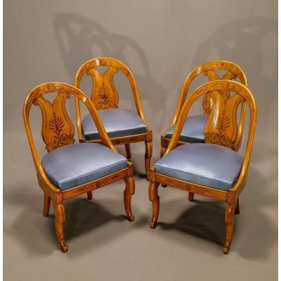 4 Charles X Chairs