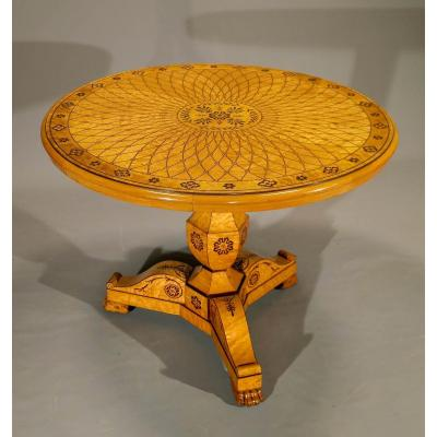 Charles X Pedestal Table