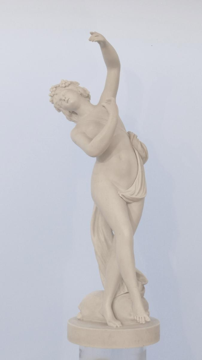 Neoclassical Dancer, Sculpture Biscuit De Sèvres, Time XIX