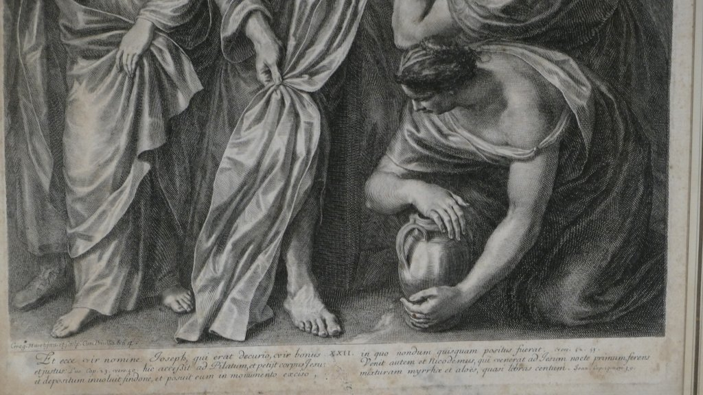 Grégoire Huret, Engraving XVII, Jesus Is Detached And Descended From The Cross-photo-1