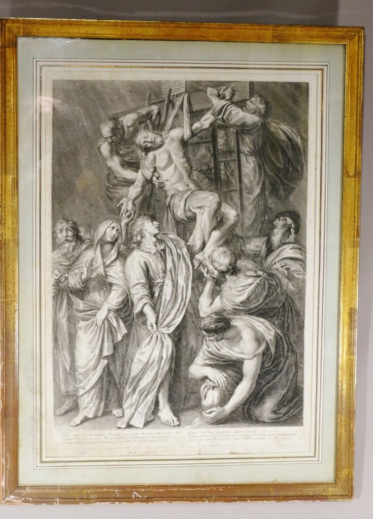 Grégoire Huret, Engraving XVII, Jesus Is Detached And Descended From The Cross