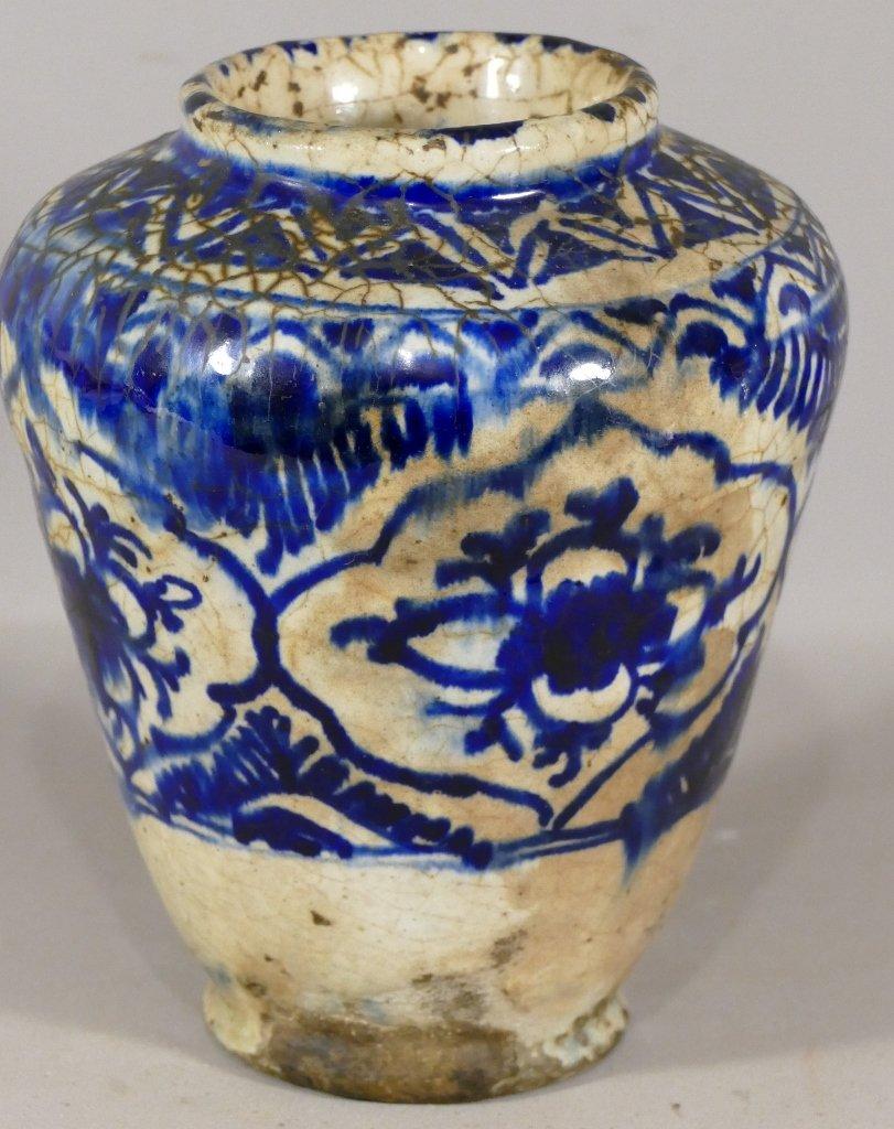 Vase En Céramique Moyen Orient, Perse, époque Fin XVIII èmen Début XIX ème